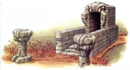 Ruinas del pantano art