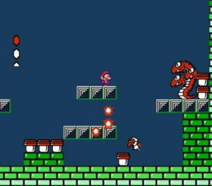 mario vs serpiente